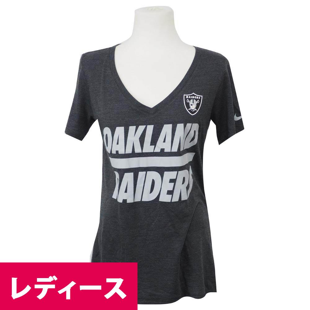 NFL レイダース チーム スクリプト レディース Tシャツ ナイキ/Nike ダークグレイ【1910セール】