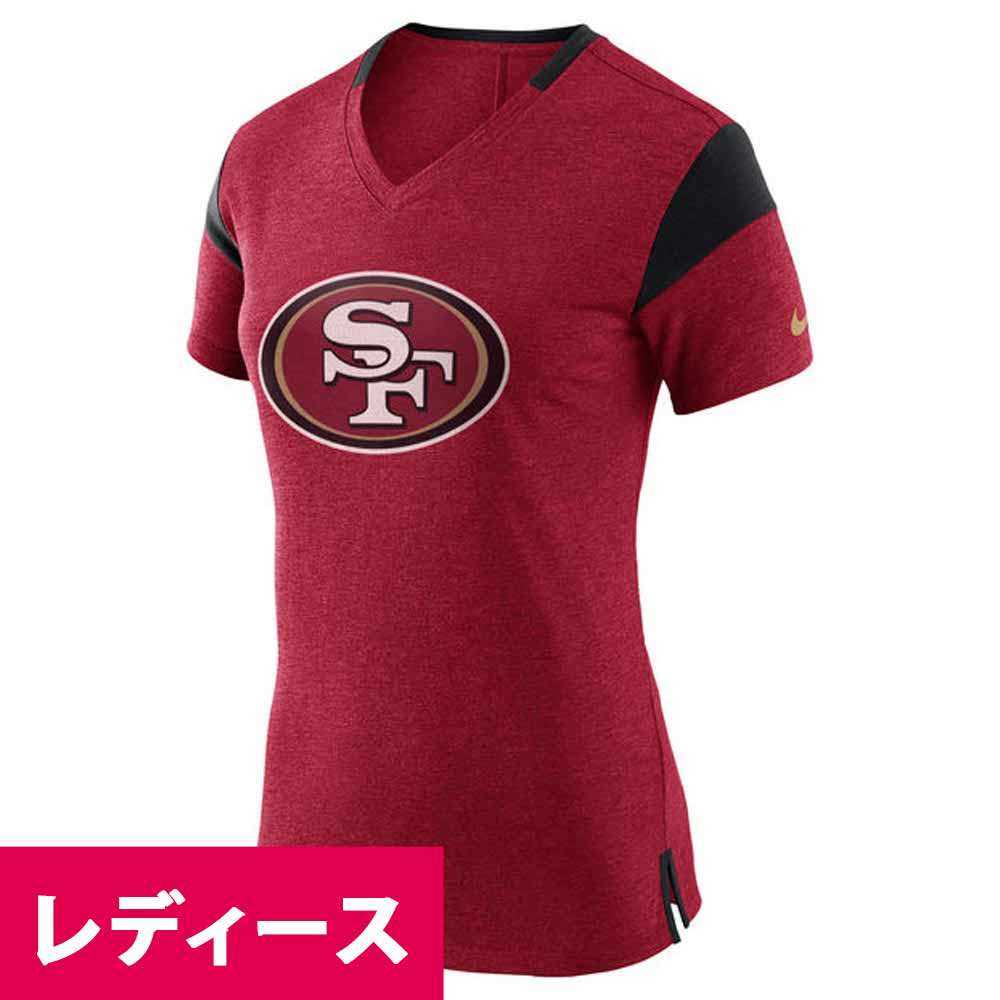 meet 87c04 01acc NFL 49ers NK Lady's fan V neck T-shirt Nike /Nike 843,424-688