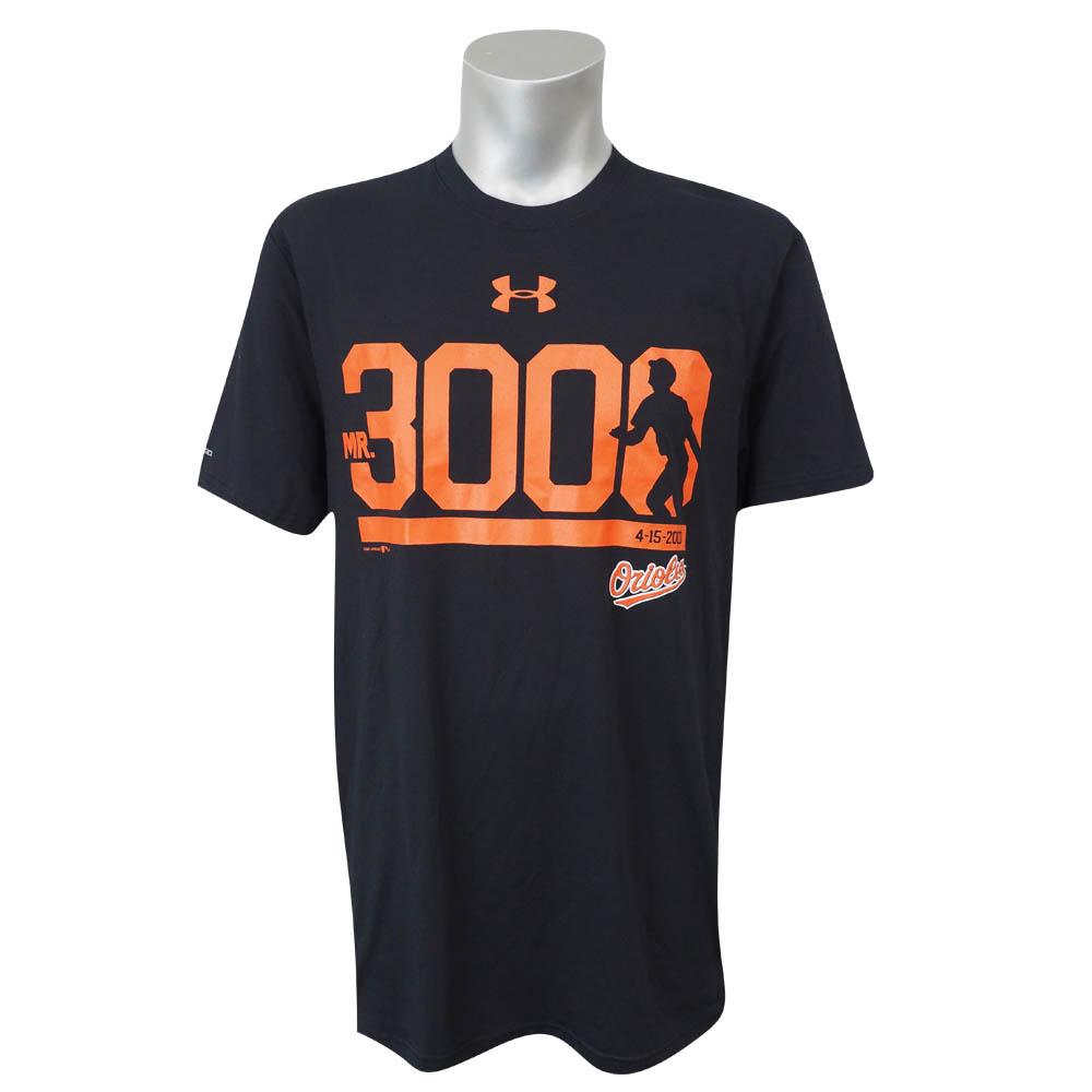 MLB オリオールズ カル・リプケン Mr. 3000 Tシャツ アンダーアーマー/UNDER ARMOUR ブラック レアアイテム【1910価格変更】【1112】