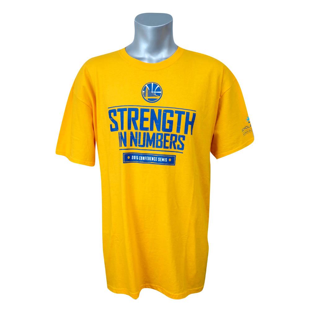 NBA Tシャツ ウォリアーズ 2015 カンファレンス セミファイナル Strength In Numbers Schplar Share イエロー レアアイテム【1910価格変更】【1911NBAt】