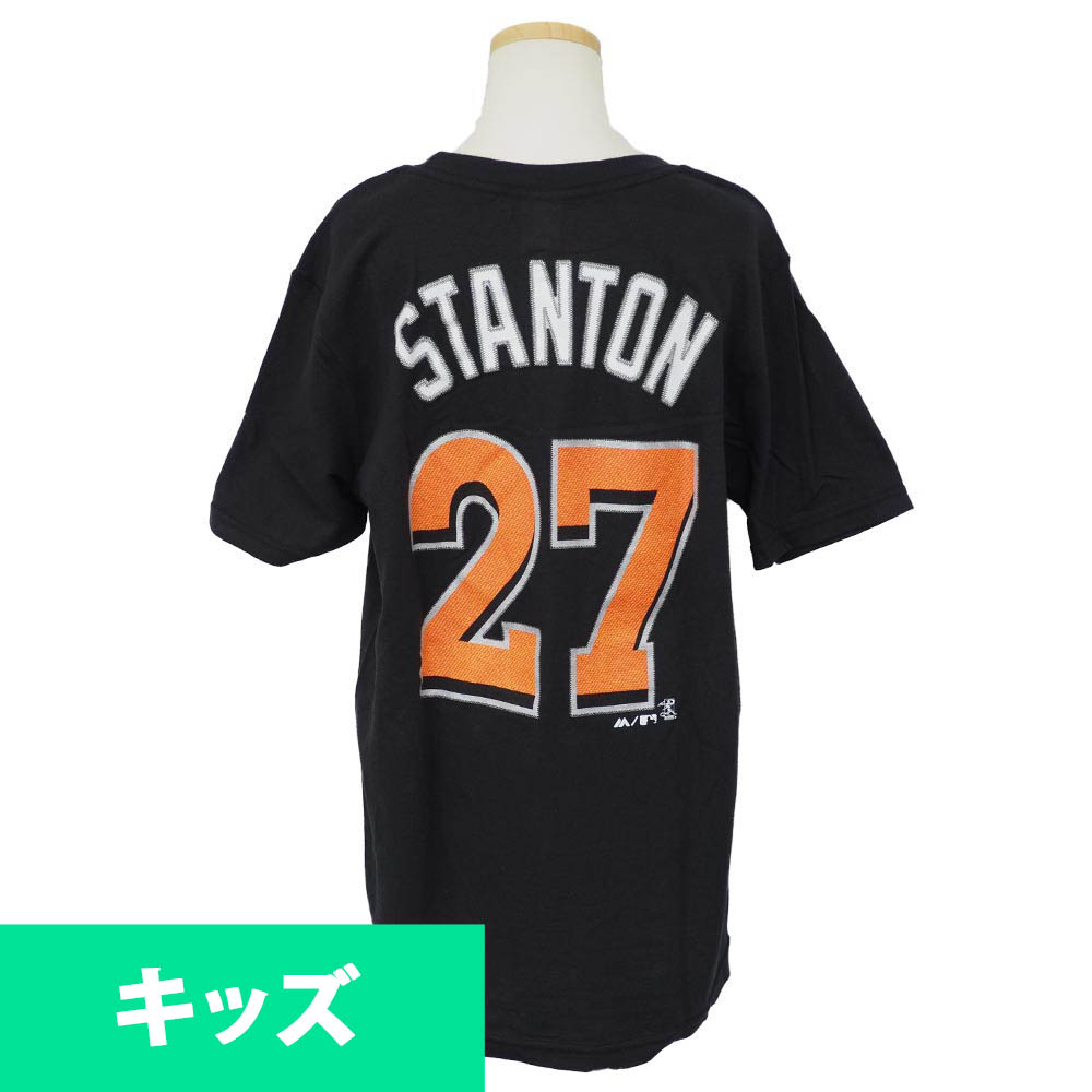 meet 09f61 17fe8 MLB Marlins Jean Carlo Stanton player kids T-shirt majestic /Majestic black  special sale