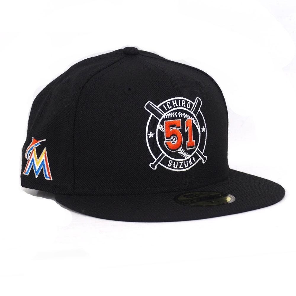 マーリンズ キャップ ニューエラ NEW ERA MLB イチロー ジャパニーズ プレーヤー 59FIFTY Ball&Bat 【1910セール】【191028変更】