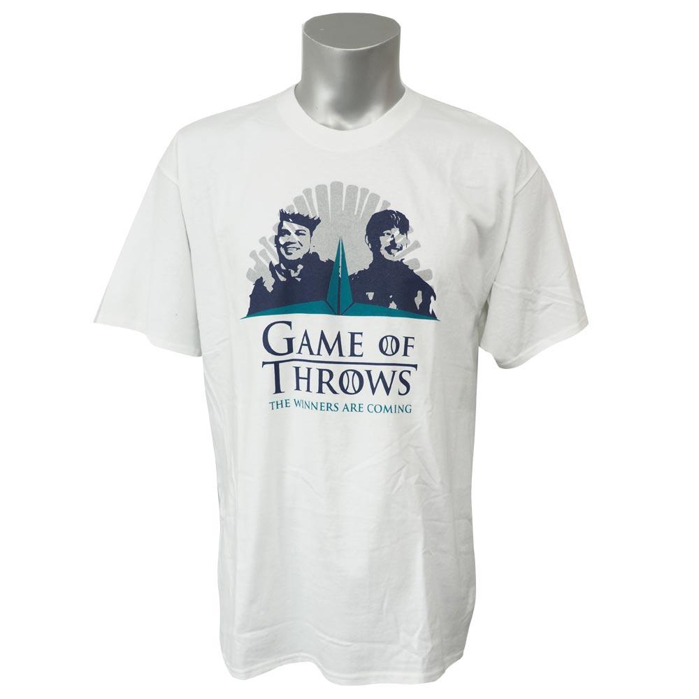 MLB マリナーズ フェリックス・ヘルナンデス ゲーム・オブ・スローズ Tシャツ SGA ホワイト レアアイテム【1910価格変更】【1112】
