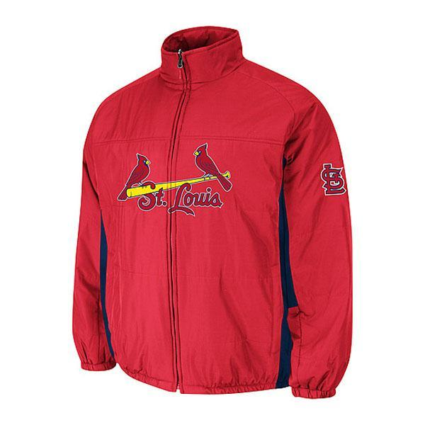 MLB Cardinals authentic double Kurai mate on field jacket majestic /Majestic red