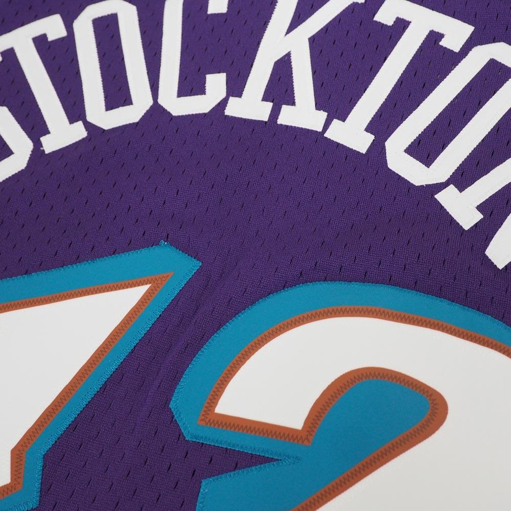 best cheap 79d05 0cdc2 NBA jazz John Stockton hardware Wood classical music swing man uniform /  jersey Mitchel &ness /Mitchell & Ness road