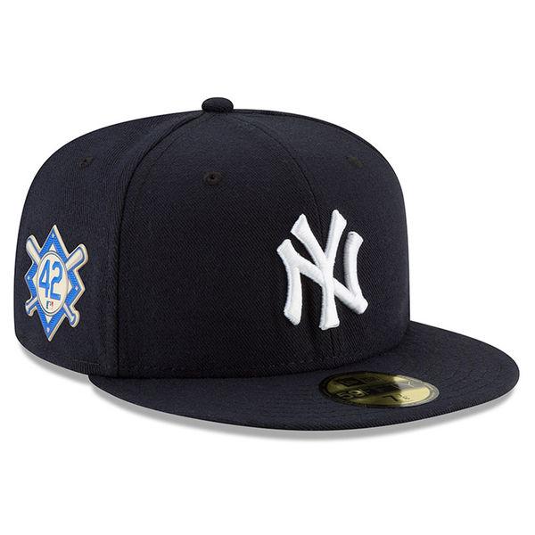 ヤンキース キャップ ニューエラ NEW ERA MLB 2018 ジャッキー・ロビンソン・デイ 59FIFTY フィット ネイビー【1910価格変更】【191028変更】