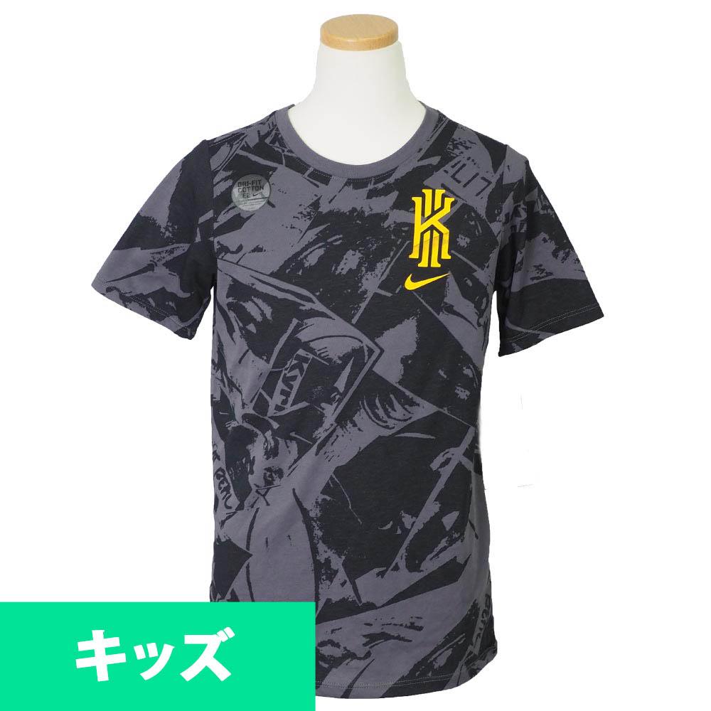 ナイキ カイリー/NIKE KYRIE キッズ Tシャツ 半袖 アイズ AOP グレー【1910価格変更】