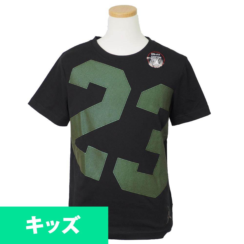 ナイキ ジョーダン/NIKE JORDAN キッズ Tシャツ 半袖 23 ブラック【1910価格変更】