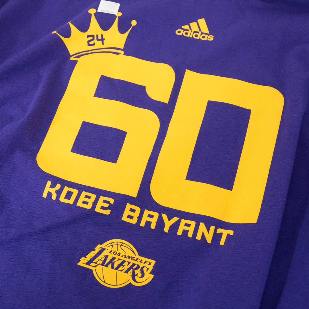 45faacb05dc NBA Lakers Kobe Bryant T-shirt short sleeves crown 60 points Adidas  Adidas  purple
