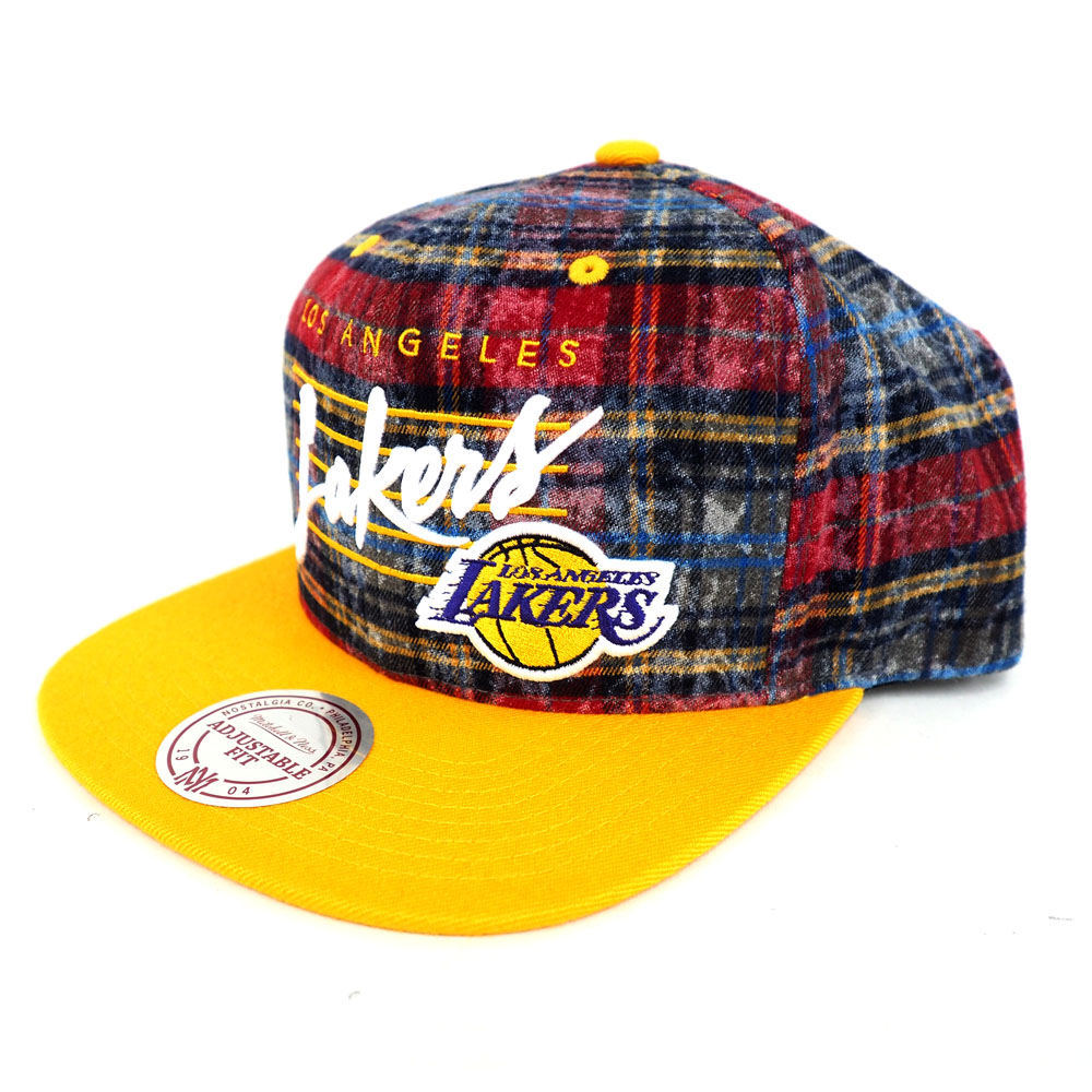 timeless design f689c 7642d ... official store nba lakers check snapback cap hat mitchel ness mitchell  ness c7647 6bc17