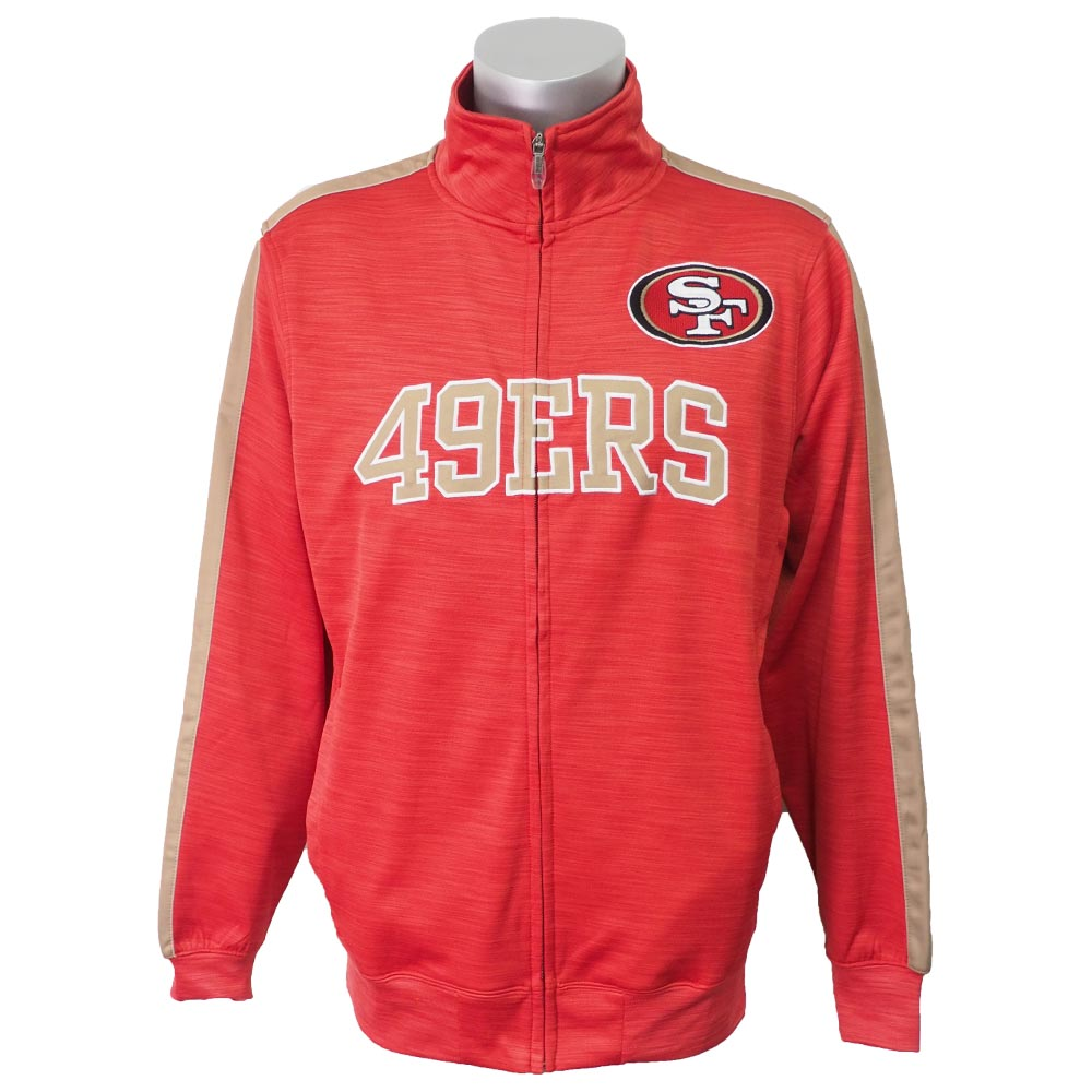 quite nice b8b56 15c45 NFL 49ers truck jacket / outer streak majestic /Majestic red