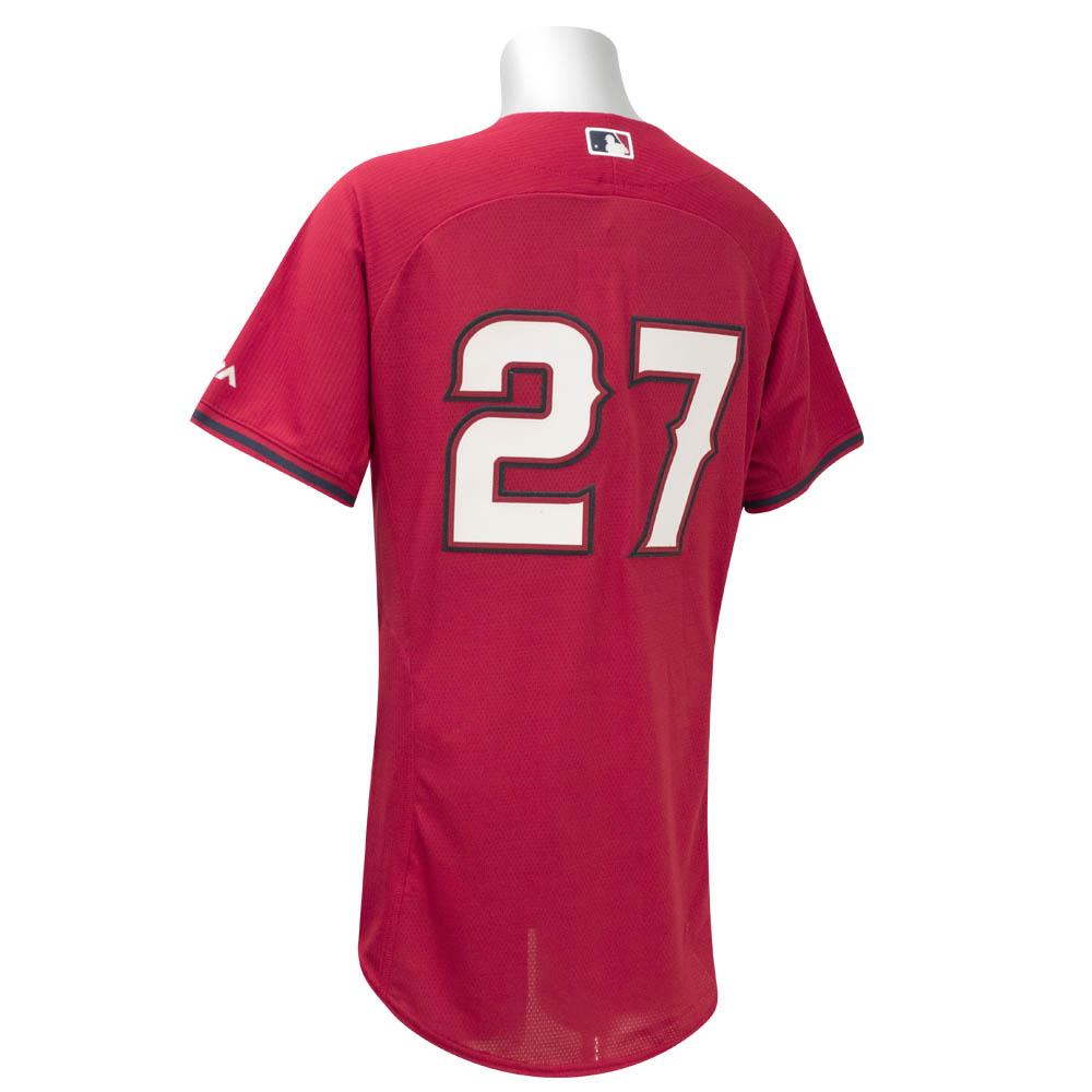 MLB エンゼルス マイク・トラウト バッティング プラクティス ユニフォーム/ユニホーム マジェスティック/Majestic レッド