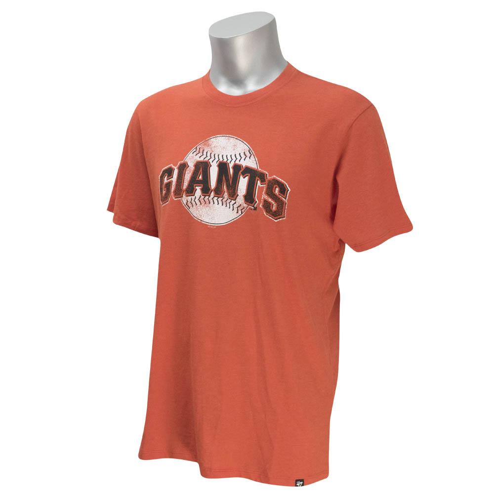 MLB ジャイアンツ Tシャツ ボールロゴ ウォッシュド 47Brand オレンジ【1910セール】【1112】