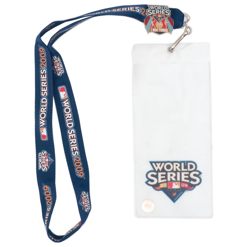 激レア 安全 2009ワールドシリーズチケットホルダー MLB チケットホルダー ランヤード 超美品再入荷品質至上 レアアイテム ワールドシリーズ 2009 ネックストラップ