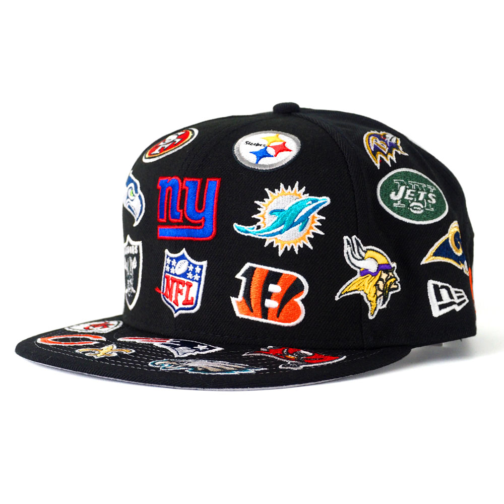 NFL cap   hat oar team logo new gills  New Era black 3f1d13e9720