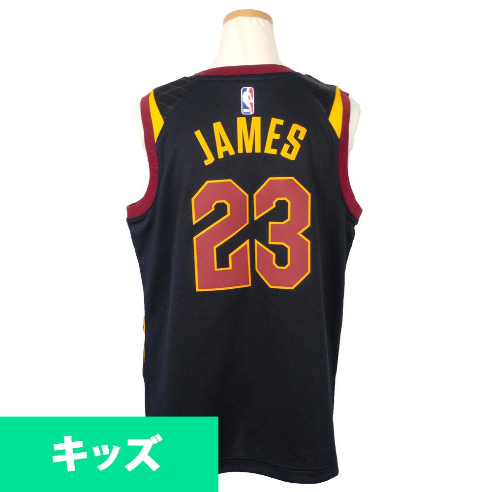 NBA キャバリアーズ レブロン・ジェイムス ユニフォーム/ジャージ キッズ スイングマン ナイキ/Nike ブラック【1910価格変更】