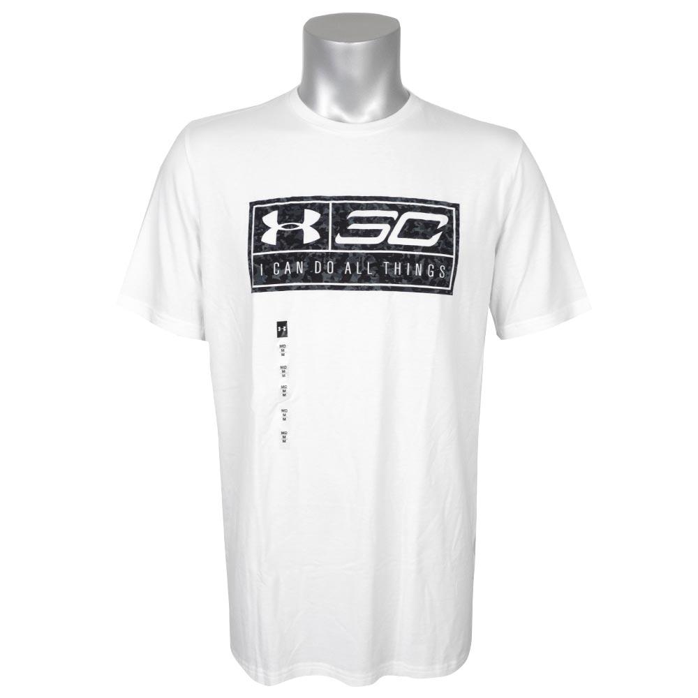 SC30 ステファン・カリー ステフィン・カリー Tシャツ ロゴナンバー #30 アンダーアーマー/UNDER ARMOUR ホワイト【1910価格変更】
