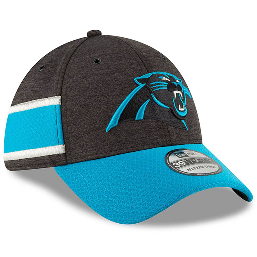 406068d71b4b22 NFL Panthers cap / hat 39THIRTY 2,018 players wearing side line home new  gills /New ...
