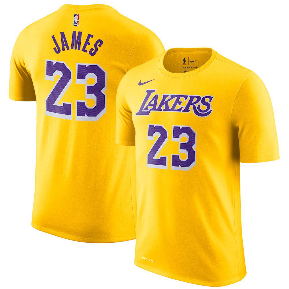 NBA Tシャツ レイカーズ レブロン・ジェームズ アイコンエディション ネーム&ナンバー ナイキ/Nike ゴールド トレーニング特集