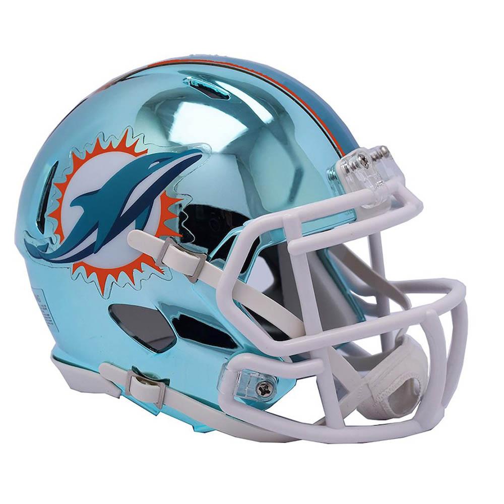 NFL ドルフィンズ ミニ ヘルメット フットボール クローム オルタネート スピード リデル/Riddell【1910価格変更】