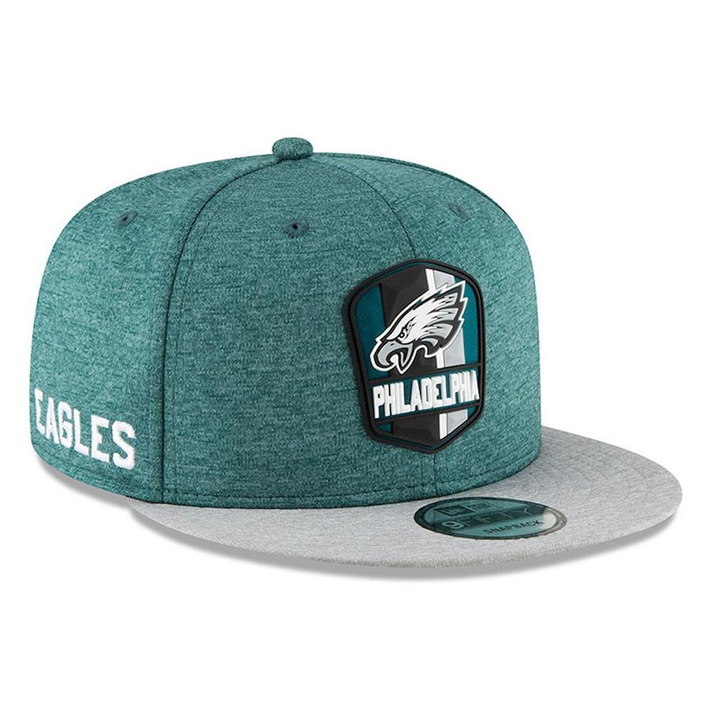 NFL イーグルス キャップ/帽子 2018 サイドライン 9FIFTY アジャスタブル ニューエラ/New Era ロード【1910価格変更】【191028変更】