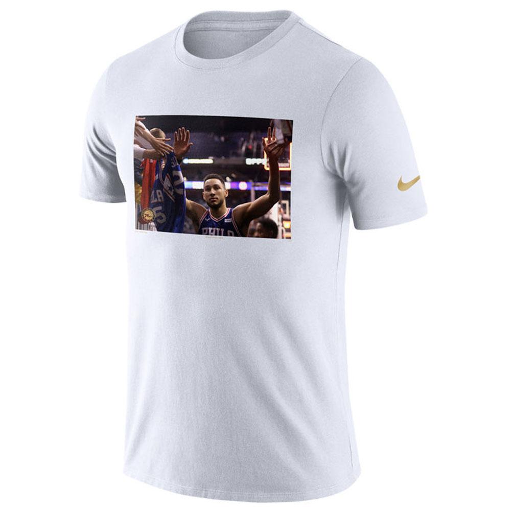 NBA Tシャツ 76ers ベン・シモンズ 半袖 スターフォト リール ナイキ/Nike ホワイト【1910価格変更】【1911NBAt】