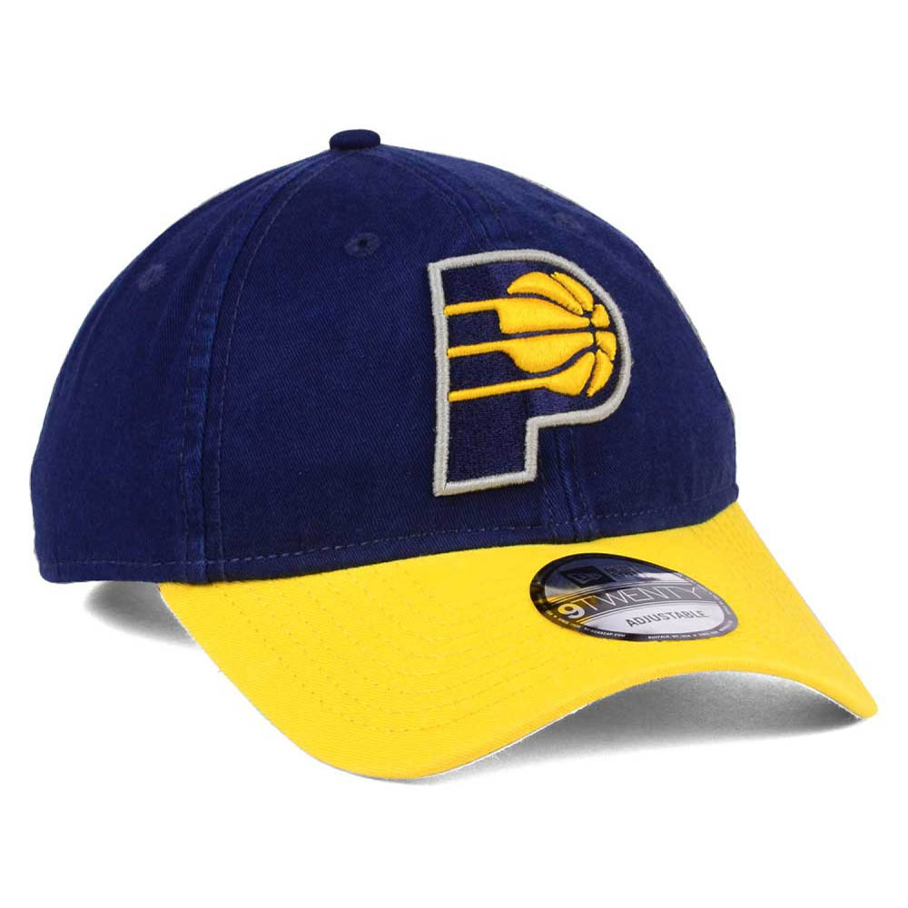 big sale 651d1 322de NBA Pacers cap   hat 2 tone new gills  New Era navy   yellow (alternate  logo)