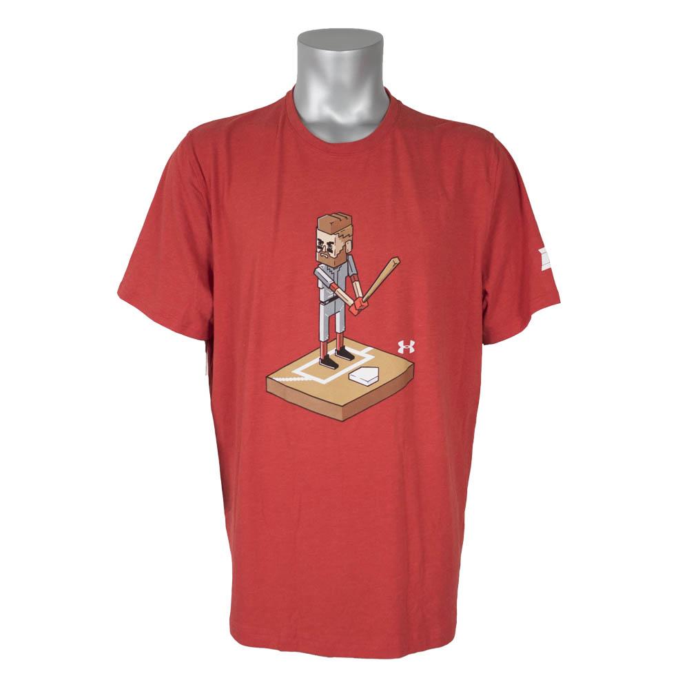 ワールドシリーズ進出 BH34 ナショナルズ ブライス・ハーパー Tシャツ 半袖8ビット アンダーアーマー レッド【1910価格変更】【1112】