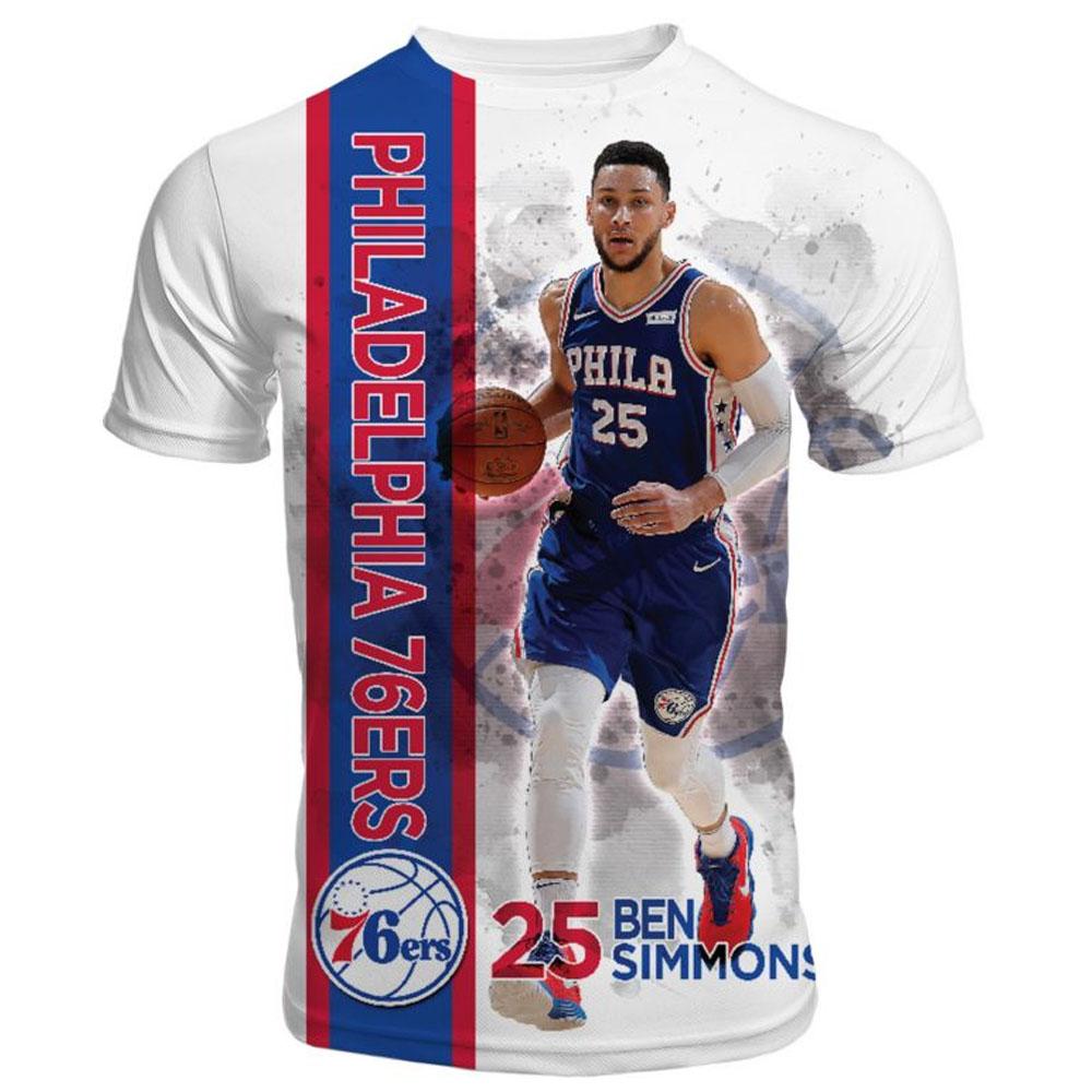NBA Tシャツ 76ers ベン・シモンズ 半袖 ハイライト Levelwear ホワイト【1910価格変更】【1911NBAt】