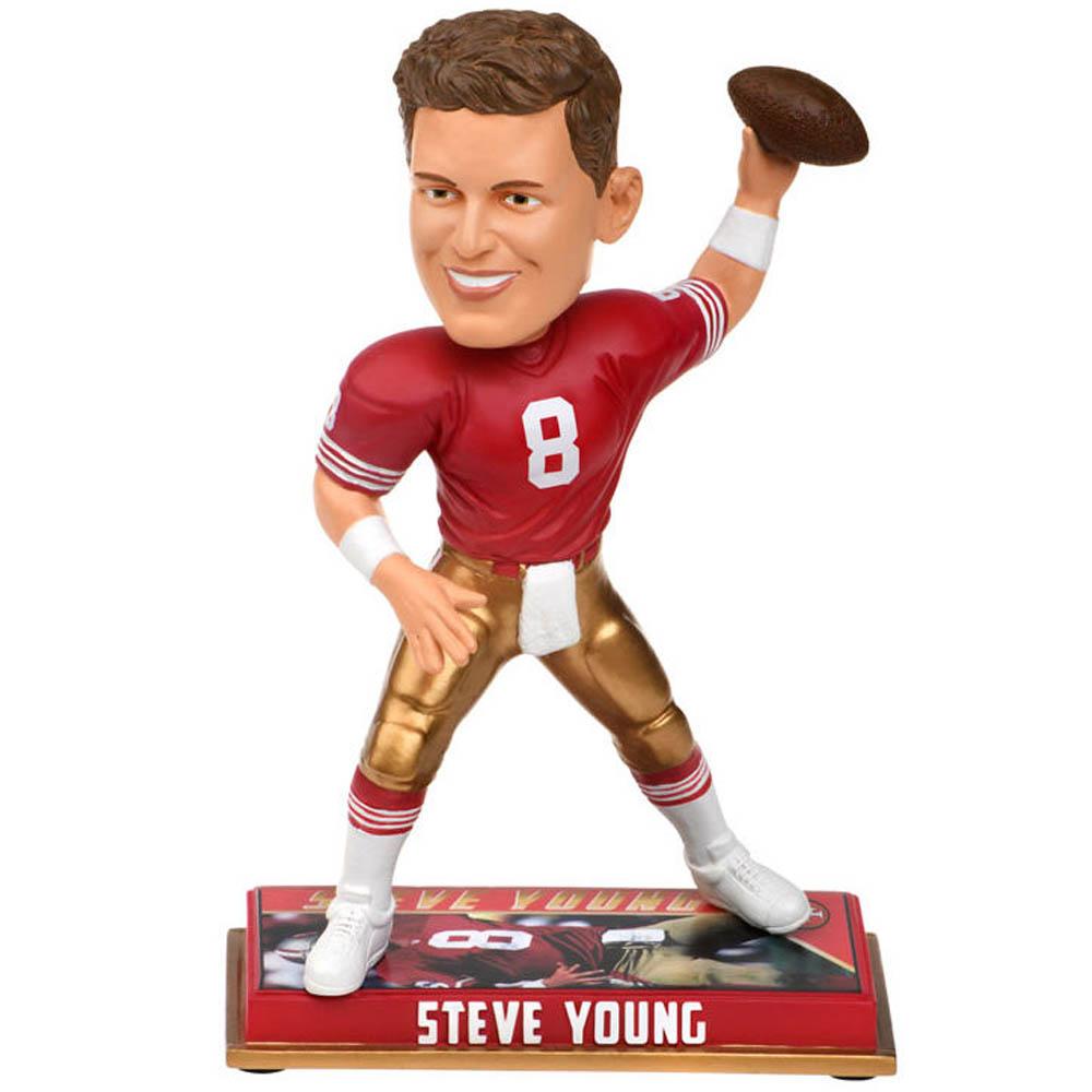 スーパーボウル進出 NFL 49ers スティーブ・ヤング フィギュア 8 リタイアド プレイヤー ボブルヘッド Forever Collectibles【1910価格変更】