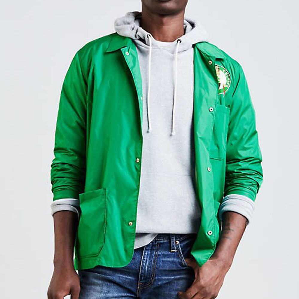 サマーセール NBA セルティックス ジャケット/スタジャン クラブコート リーバイス/Levi's グリーン