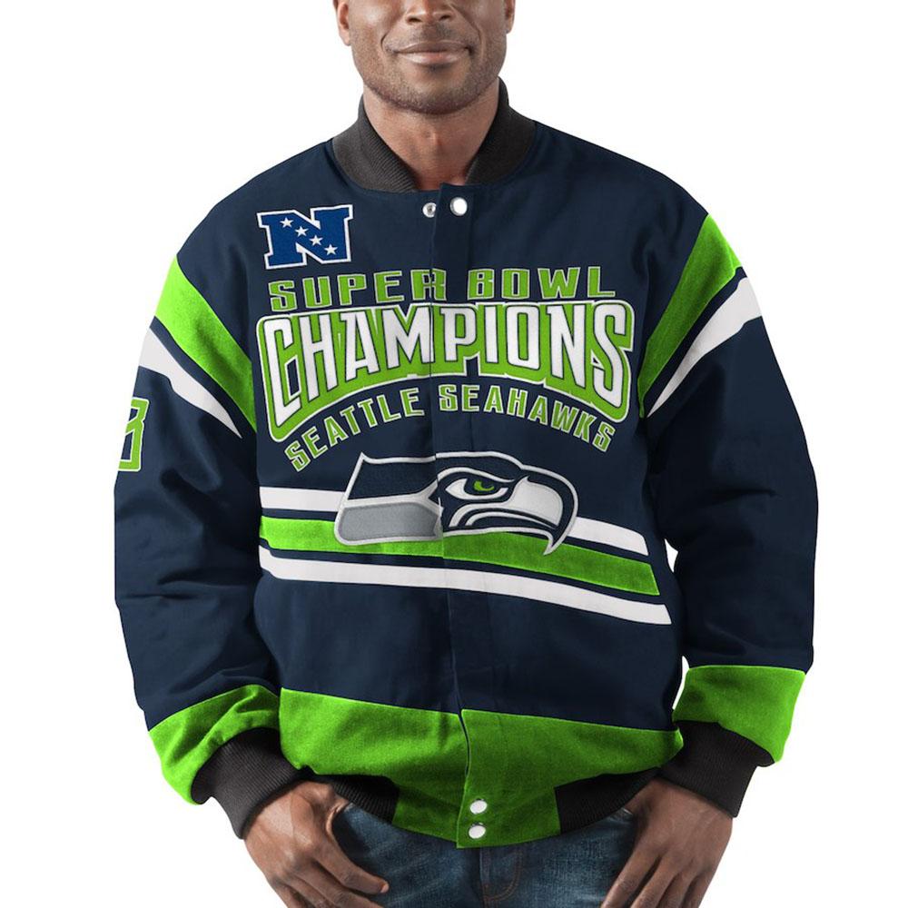 サマーセール NFL スタジアムジャンパー シーホークス ジャケット/スタジャン グラディエーター コットン ツイル G-III