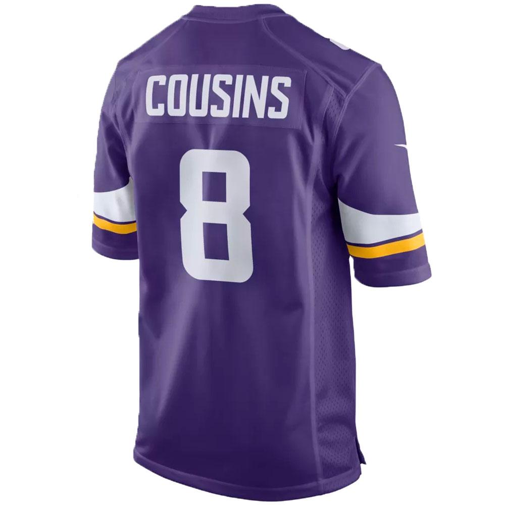 los angeles b4358 99b24 NFL Vikings Kirk cousins uniform / jersey game jersey Nike /Nike purple