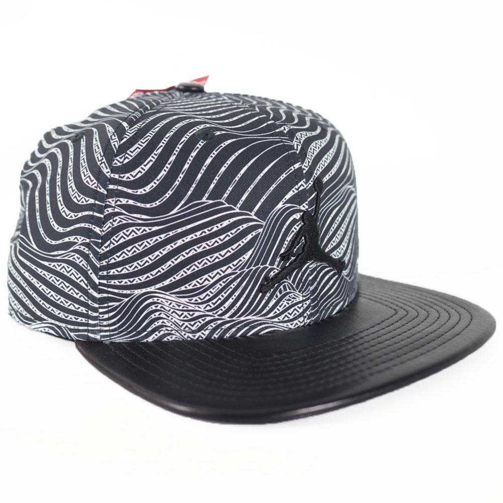 dfd689ffb00619 Nike Jordan /NIKE JORDAN cap / hat leather snap box black 843,984-687 rare  ...