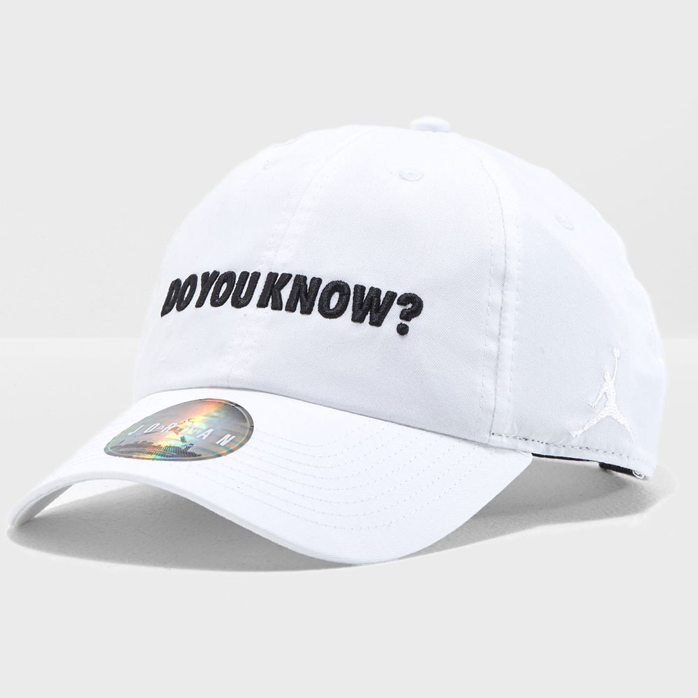 bd6910d54d81 Nike Jordan  NIKE JORDAN cap   hat Do You Know heritage white AA3790-100