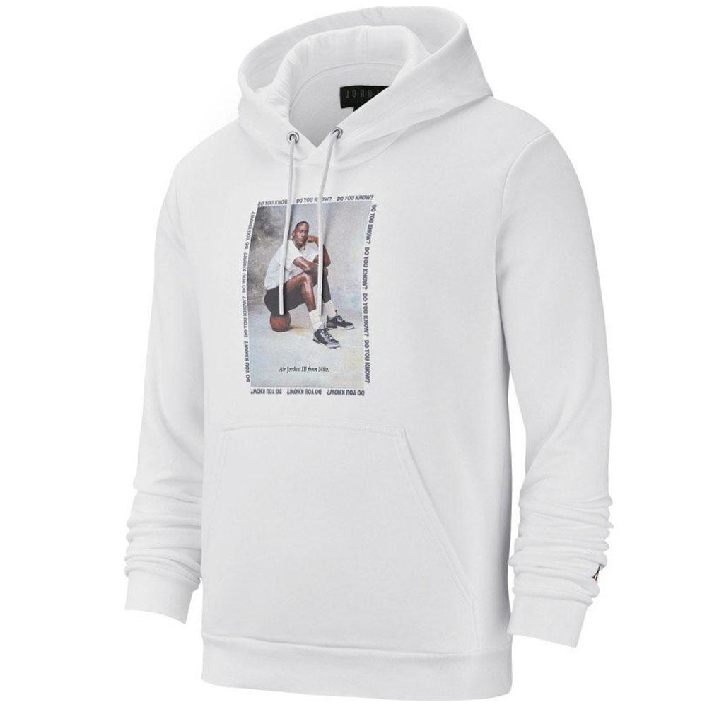 3 Jordan parka men Nike nostalgic flight fleece pullover full zip white 943,928 100