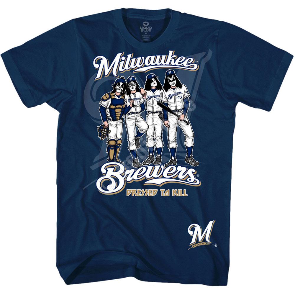 MLB ブリュワーズ Tシャツ ドレッスド トゥ キル アパレル ネイビー