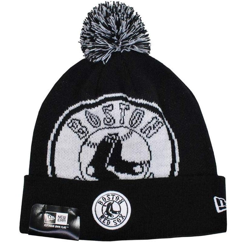 MLB NBA NFL Goods Shop  MLB Red Sox knit cap   knit hat black beanie hat  biGuy new gills  New Era black  9cacd265902