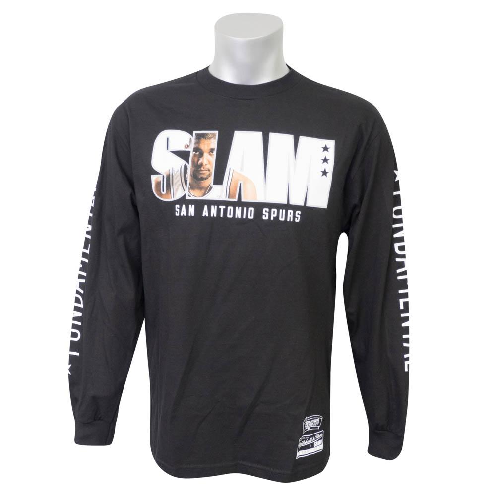 NBA Tシャツ スパーズ ティム・ダンカン ロング SLAM/スラム 表紙ロゴ Mitchell & Ness ブラック【1910価格変更】【1911NBAt】