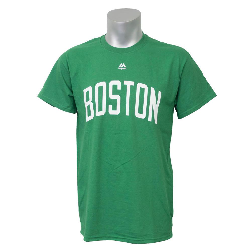 NBA Tシャツ セルティックス チームネーム ワードマーク メンズ マジェスティック/Majestic グリーン【1911セール】【1911NBAt】