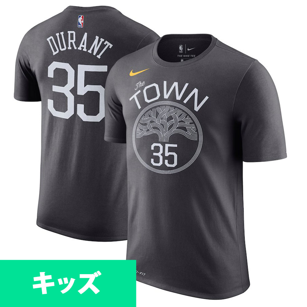 c5845ddcc NBA Warriors Kevin Durant T-shirt use name   number city edition Nike  Nike  gray