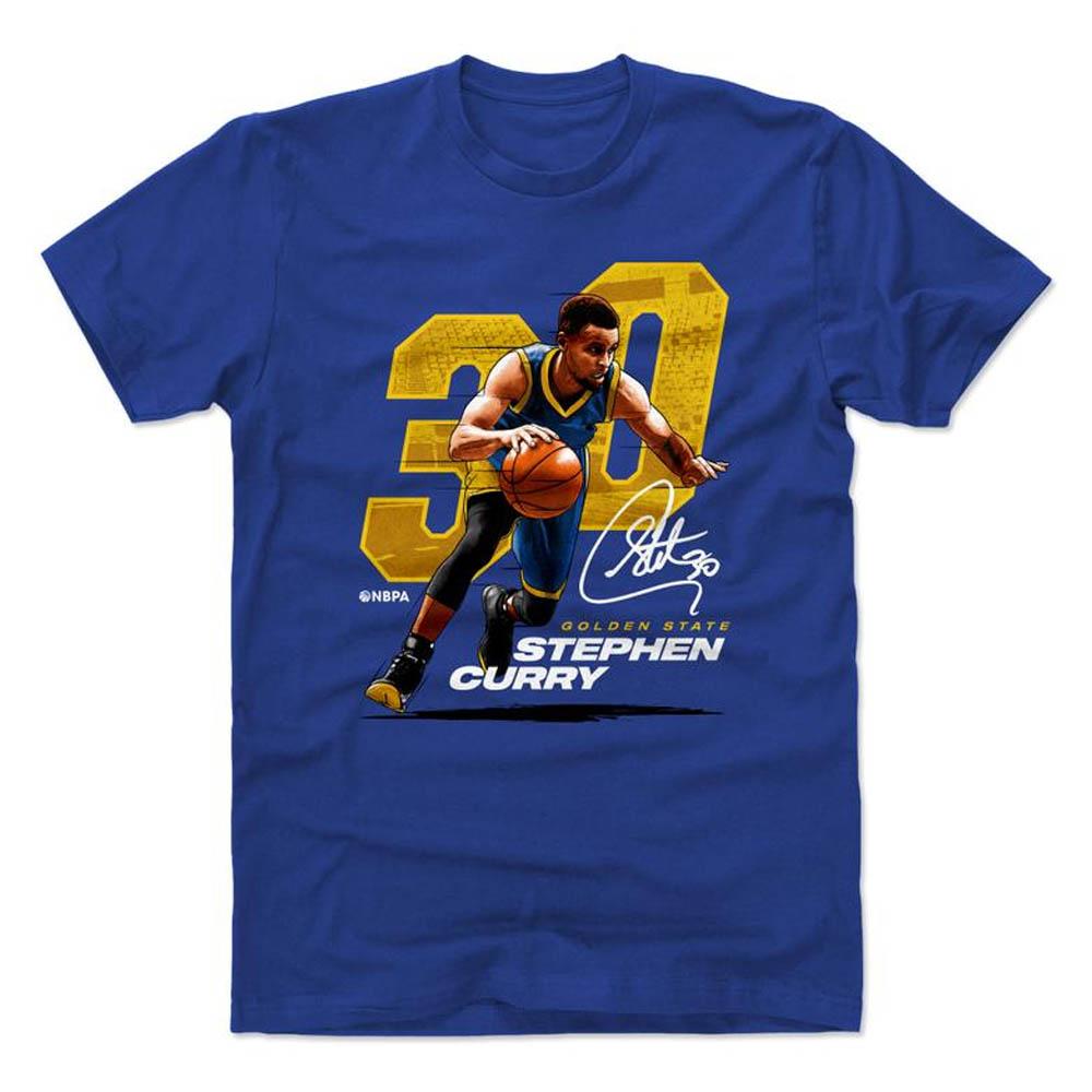 NBA Tシャツ ウォリアーズ ステファン・カリー プレーヤー アート オフェンス 500Level ロイヤルブルー【1910価格変更】【1911NBAt】