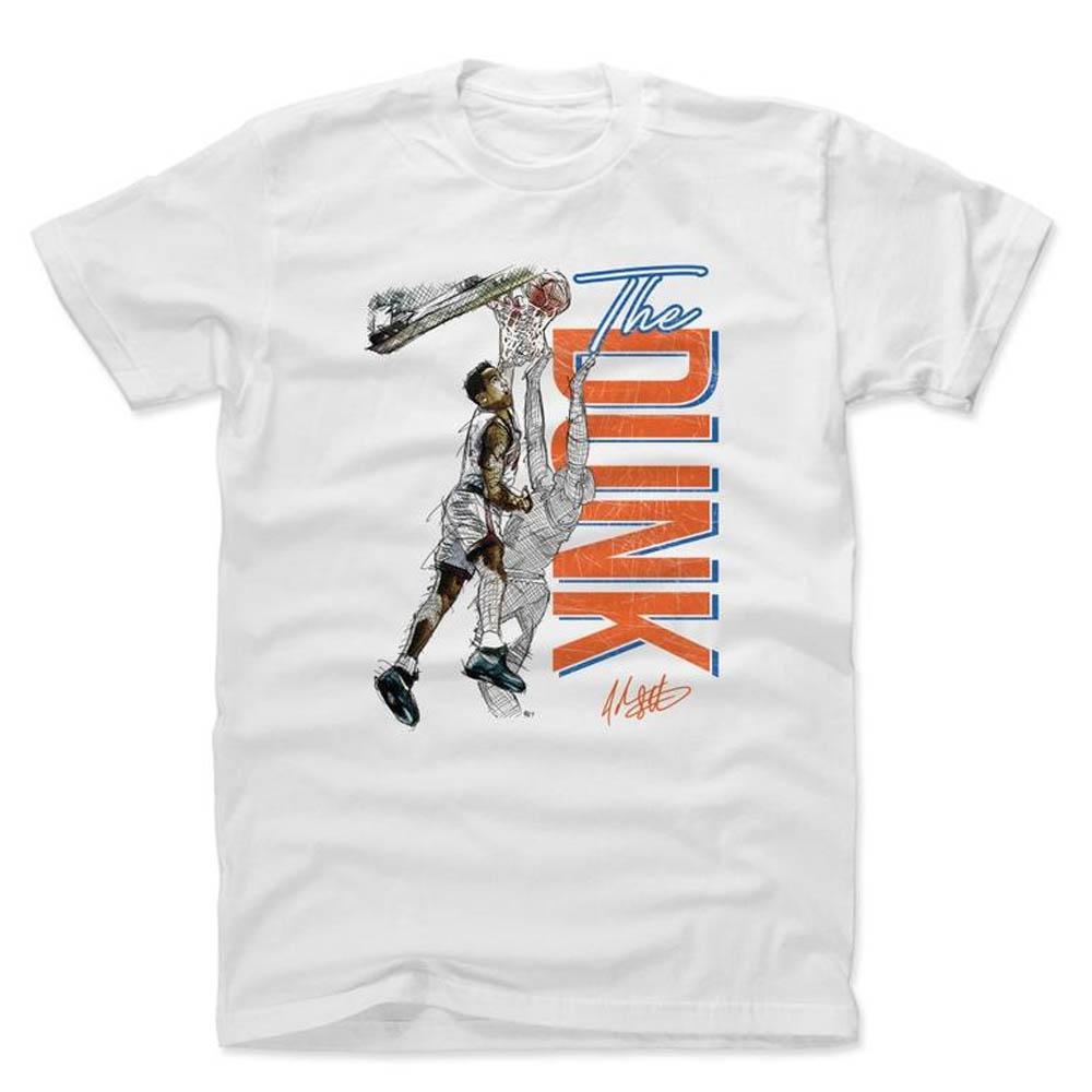 NBA Tシャツ ニックス ジョン・スタークス プレーヤー アート ザ・ダンク 500Level ホワイト【1910価格変更】【1911NBAt】