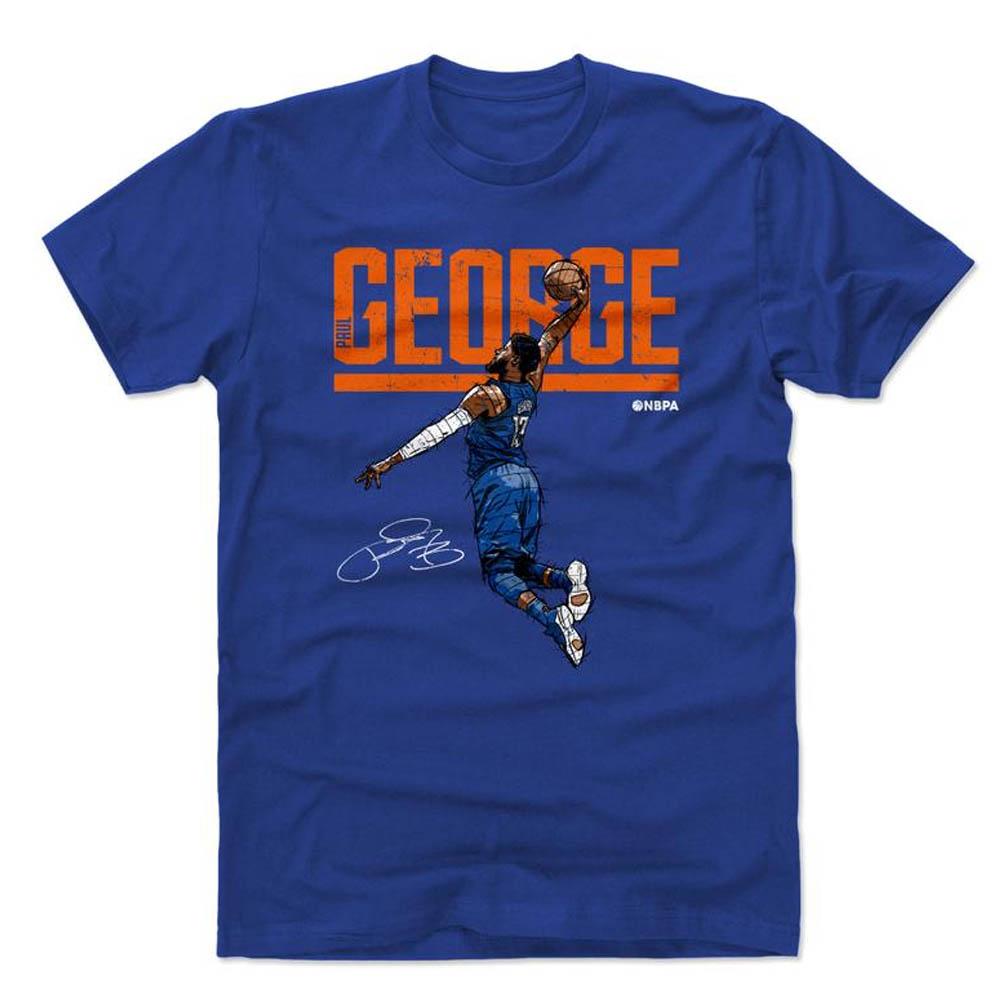 NBA Tシャツ サンダー ポール・ジョージ プレーヤー アート ハイパー 500Level ロイヤルブルー【1910価格変更】【1911NBAt】