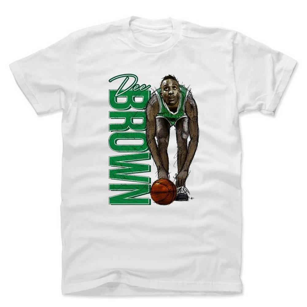 NBA Tシャツ セルティックス ディー・ブラウン プレーヤー アート パンプ 500Level ホワイト【1910価格変更】【1911NBAt】