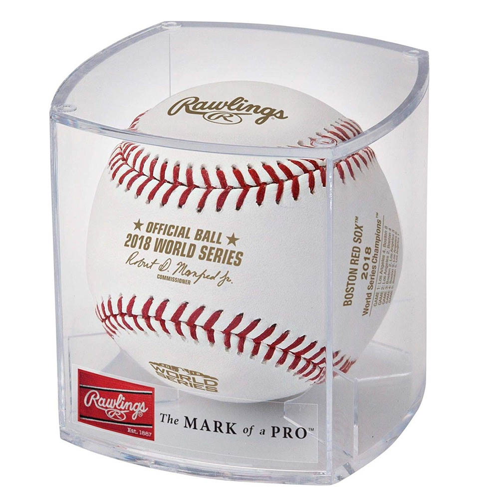 MLB レッドソックス 2018 ワールドシリーズチャンピオン ロゴ入り 記念ボール【1910NFLSHOPエラー】