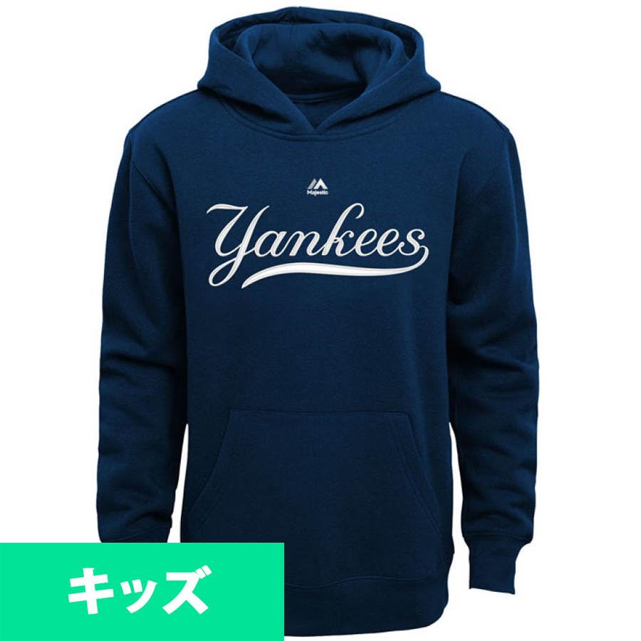 MLB ヤンキース パーカー/フーディー トドラー ワードマーク フリース フーディー マジェスティック/Majestic ネイビー【1910価格変更】
