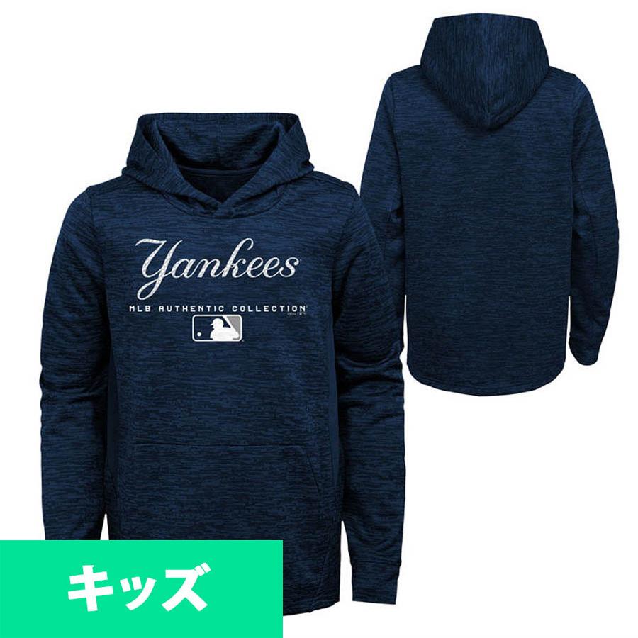 【リニューアル記念メガセール】MLB ヤンキース パーカー/フーディー キッズ チームドライブ フリース フーディー マジェスティック/Majestic ネイビー