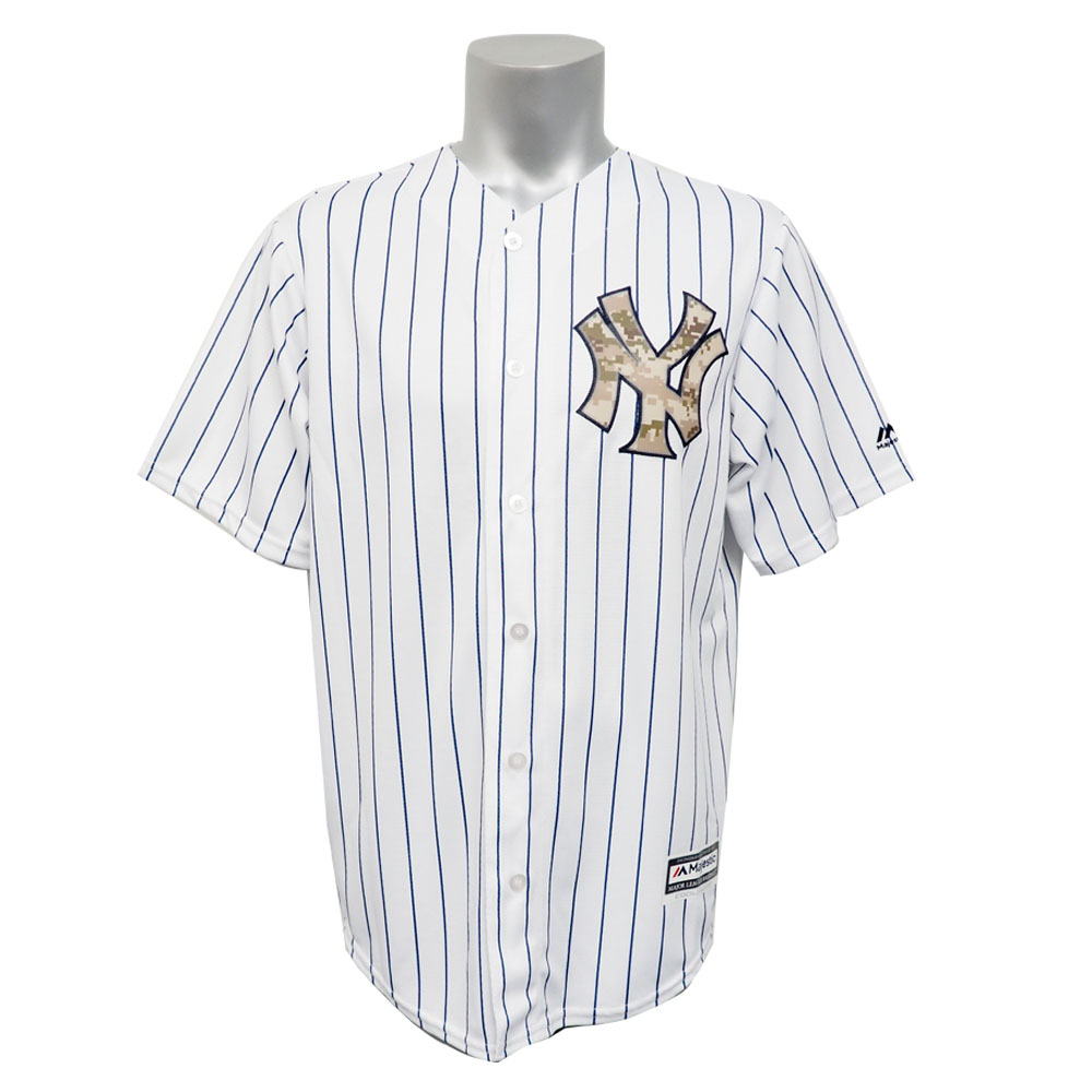 superior quality e7735 19506 MLB Yankees uniform / jersey Memorial Day replica cool base 2015 majestic  /Majestic home