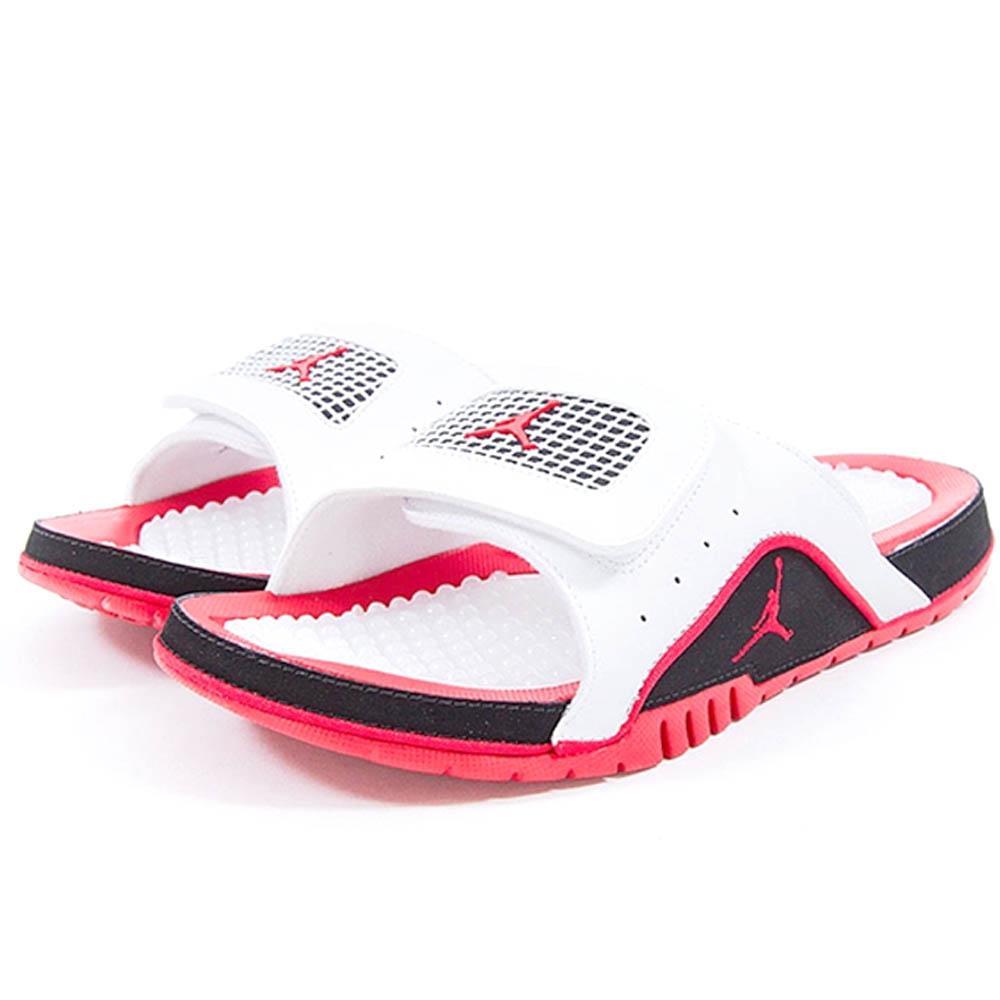 all white jordan sandals